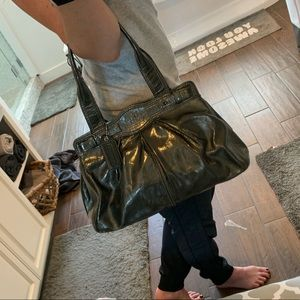 Coach Bags - Coach Patent Leather Tote - Pewter/Grey